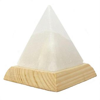 Something Different Pyramid White USB Salt Lamp