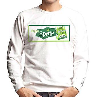 Geniet van Sprite Vintage krat logo heren Sweatshirt