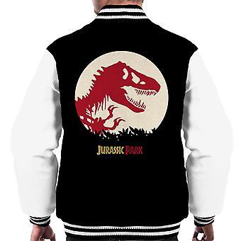 Jurassic Park rood silhouet mannen ' s Varsity Jacket