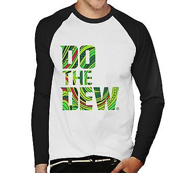 Mountain Dew tee Dew slogan miesten ' s baseball pitkähihainen T-paita