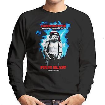 Alkuperäinen Stormtrooper ensimmäinen räjähdys parodia tummille miehille ' s pusero