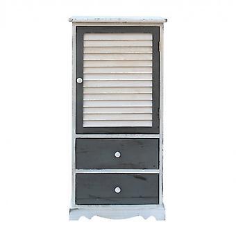 Rebecca Möbel Mobile weiß grau Holz 2 Schubladen 1 Anta 90x42x32