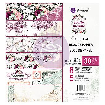 Prima Marknadsföring Ganska Mosaik 12x12 Tums Paper Pad