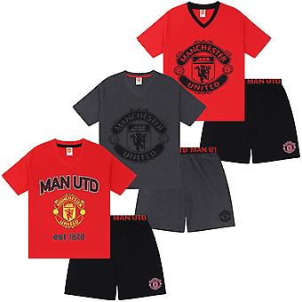 Manchester United FC Official Football Gift Mens Korte Pyjamas Loungewear