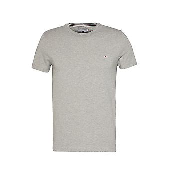 Tommy Hilfiger Stretch Slim Fit T-shirt Cloud Htr