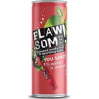 Flawsome! Apple & Rhubarb Lightly Sparkling Juice