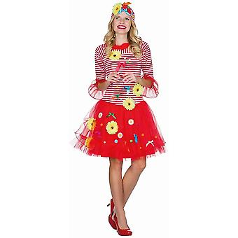 Rut un wieß med Blömche damer blomster kostume blomst eng karneval