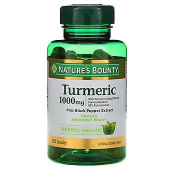 Naturens dusør, Gurkemeie, 1000 mg, 60 Kapsler