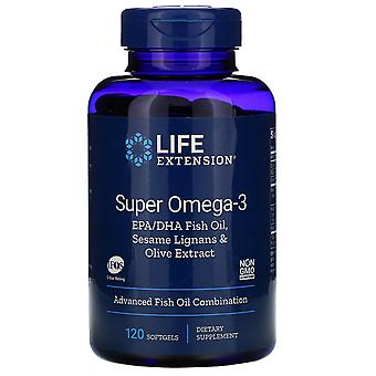 Life Extension, Super Omega-3 EPA/DHA Fish Oil, Sesame Lignans & Olive Extract,