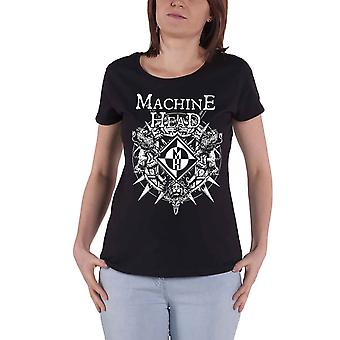 Machine Head T Shirt Bloodstone Band Logo new Official Womens Skinny Fit Black