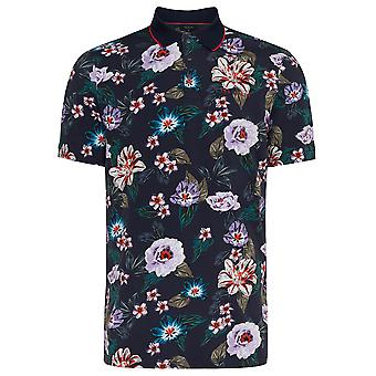 Ted Baker Mens 2020 Tigar Short Sleeve Floral Comfort Golf Polo Camicia