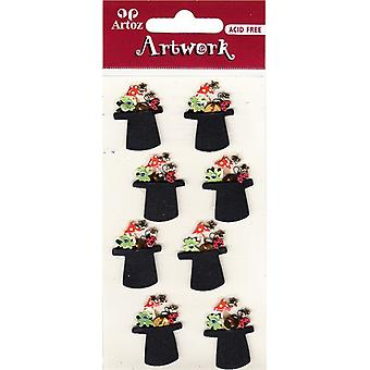 Lucky Top Hats Craft Embellishment By Artoz