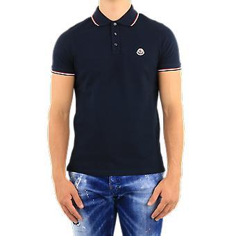 Moncler Ss Polo Blue F20918A70300773 Top