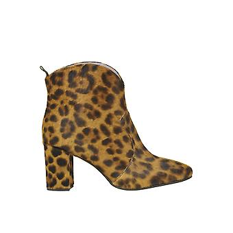 G Di G Ezgl294012 Women's Leopard Pony Skin Ankle Boots