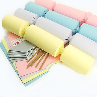 8 Jumbo pastel make & Vul je eigen DIY recyclebare kerst cracker Craft Kit