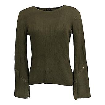 G.I.L.I. Got It Love It Women's Sweater (XXS) Rib Knit Green A370666