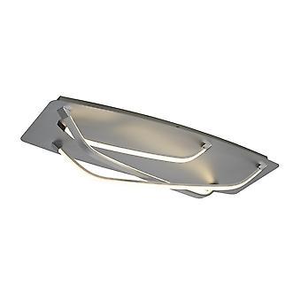 Flush LED-ljus 25W, 1900lm, 3000K polerad krom, vit akryl