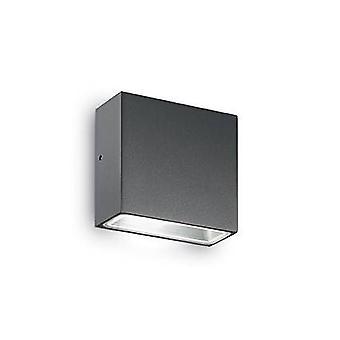 Ideal Lux Tetris-1 - 1 Light Outdoor Wandleuchte Anthrazit IP44, G9