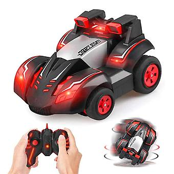 Stunt Remote-control Car Rc Four-wheel Stunt Toy Car 360 Degree Spinning Rolling Rotating Cars For Kids  (red)