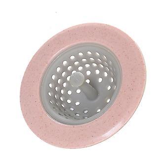 Filtre de cuisine 4 couleurs Silicone, passoire de paille de blé, drain de douche de salle de bains