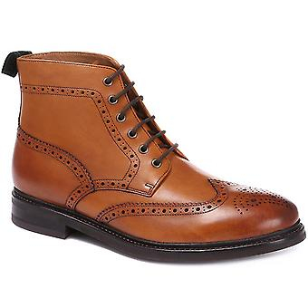 Jones Bootmaker Mens George Brogue Lace-Up Ankle Boots