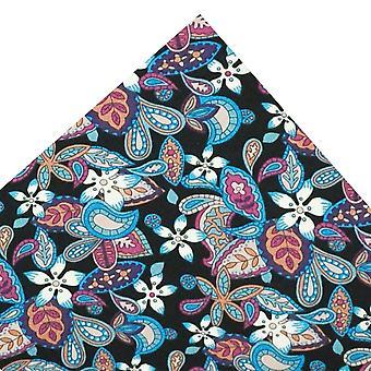 Ties Planet Van Buck Zwart, Blauw, Roze en Paars Zakplein gemaakt met Liberty Fabric
