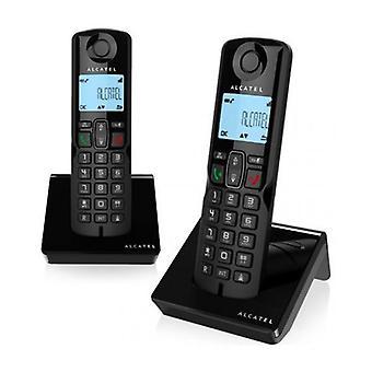 Drahtloses Telefon Alcatel S250DUO DECT Schwarz (2 Stk.)