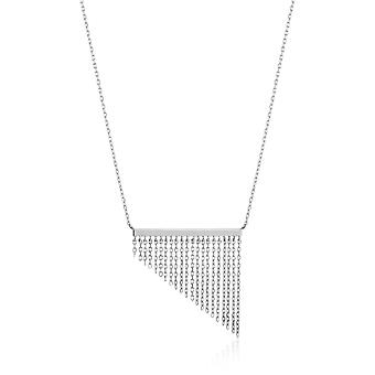 Ania Haie Sterling Silber Rhodium vergoldet Fransen Herbst Halskette N013-02H
