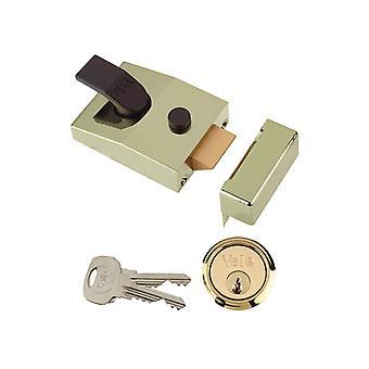 Yale Locks 89 Deadlock Nightlatch 60mm Backset Brasslux Finish Box YAL89BLX