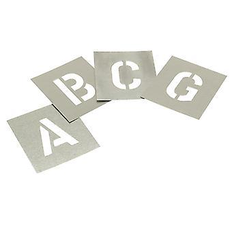 Stencils Set of Zinc Stencils - Letters 1in Walleted STNL1W