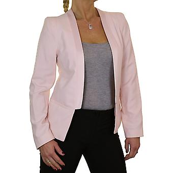 Women's Formal Satin Edge Long Sleeve Open Front Evening Blazer Jacket Tailored Fully Lined 8-10