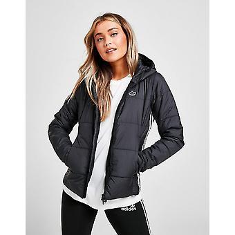 Uusi adidas Originals Women's 3-raidat Slim Puffa Jacket Musta