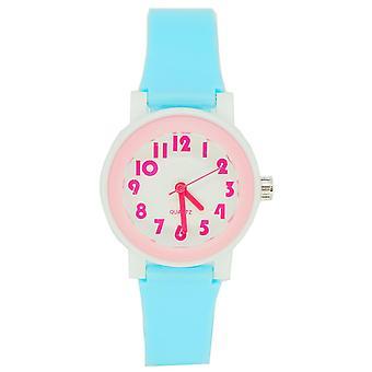 Ceas cu LED Digital Touch Pentru copii cu LED-uri luminoase impermeabile - Alb și albastru