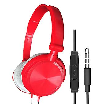 HEONYIRRY HiFi Gaming Headphones for PC / Xbox / PS4 / PS5 - Wired Headset Headphones Red