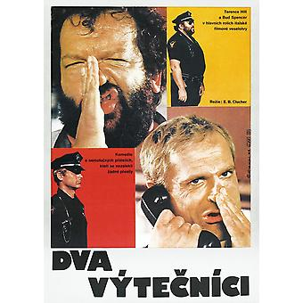 Crime Busters polonês Poster de Top Bud Spencer Terence Hill 1977 filme Poster Masterprint
