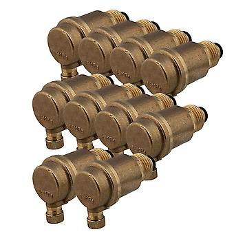Central Heating System 1/2Inch Brass Automatic Vent Valve Rust Protection Set of 10
