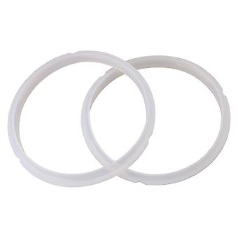 2PCS Silica Gel Sealing Rings for Electric Pressure Cooker 2L/2.5L White
