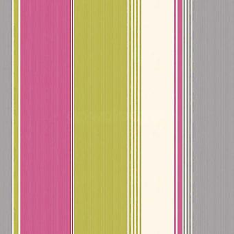 Feathers Stripe Pattern Contemporary Bright Colour Wallpaper