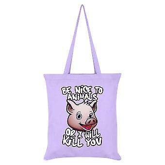Grindstore يكون لطيفا للحيوانات أو سأقتلك حقيبة حمل