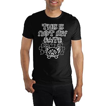 """Aggretsuko """"this is not my fate"""" short-sleeve t-shirt"""