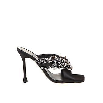 N°21 21ecp0nv11061x060 Women's Black Leather Sandals