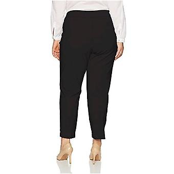 Alfred Dunner Women's Plus Size Short Allure Stretch Pant Slim Fit Tummy Cont...