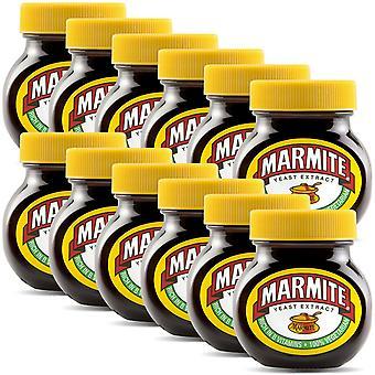 Marmite Hefe-Extrakt reich an Vitamin B, 12 Gläser von 125gm