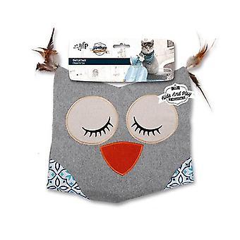 Cat Sack Crinkle Toys Owl Hide Play Bag Teaser Vintage
