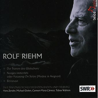 R. Riehm - Rolf Riehm: Die Tr Nen Des Gletschers; Nuages Immortels; Berceuse [CD] USA import