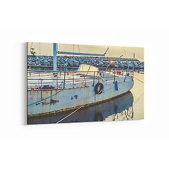 Schilderij - Verlaten boot — 100x70cm