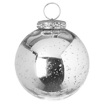 The Noel Collection Crackle Effect Christmas Bauble