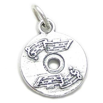 Cd Compact Disc Sterling Silver Charm .925 X 1 Cds Discs Music Charms - 3209