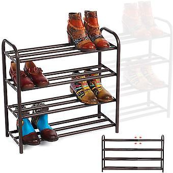 GEMITTO 4-Tier Shoe Organizer Rack, Extendable Heavy Duty Home Shoe Racks Storage