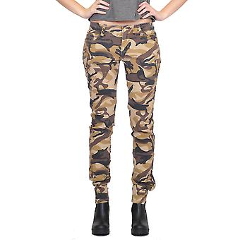 Low Rise Camouflage Pants Slim Fit - Brown